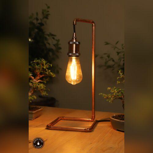 Lampe de chevet en cuivre
